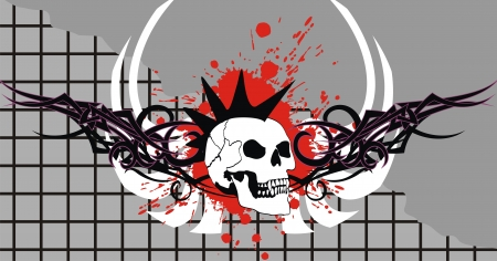 skull tribal tattoo vector background in vector format very easy to edit