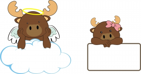reindeer angel baby cartoon