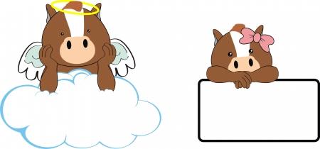 bebe angel: caballo �ngel de la historieta del beb�