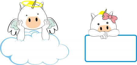 unicorn angel baby cartoon  Çizim