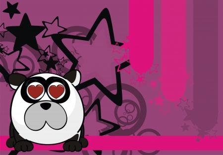 panda teddy bear ball cartoon background  Vector