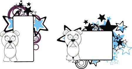polar teddy bear cartoon copyspace in vector format very easy to edit Ilustração