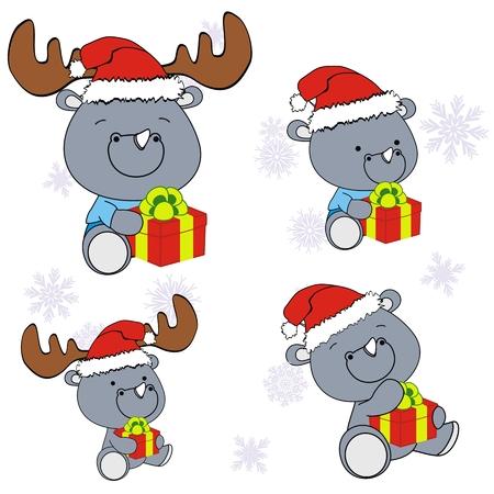 rhino xmas baby claus gift set
