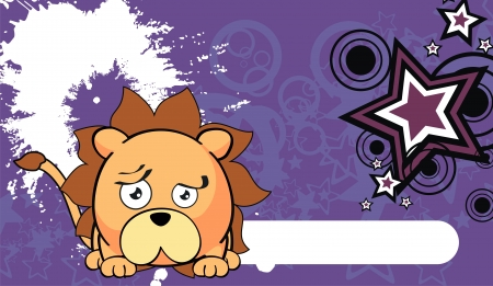 lion ball cute cartoon vector background in vector format Vector