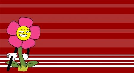 꽃 만화 벽지 카드