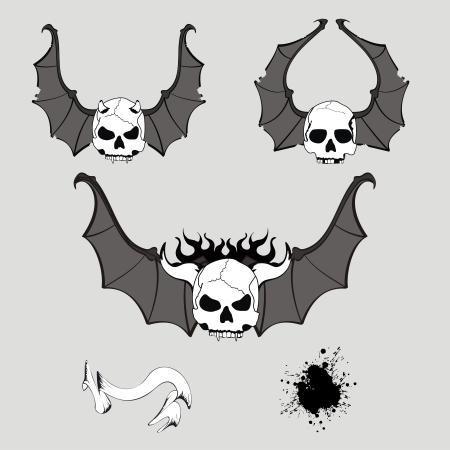 style: skull winged rocker style