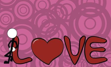 inlove: pictograms love stick man wallpaper in vector format