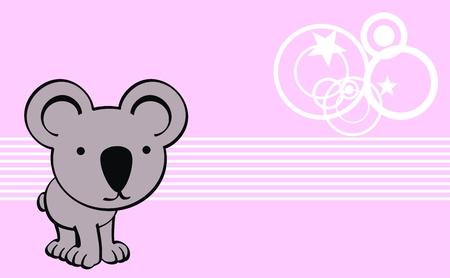 コアラかわいい赤ちゃん漫画背景ベクトル形式で 写真素材 - 26038769