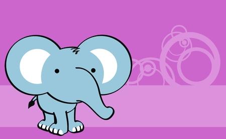 象かわいい赤ちゃん漫画背景ベクトル形式で