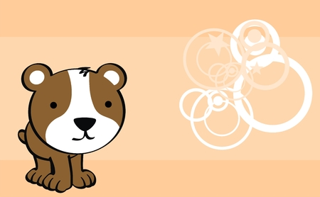 hamster cute baby cartoon background in vector format Illustration