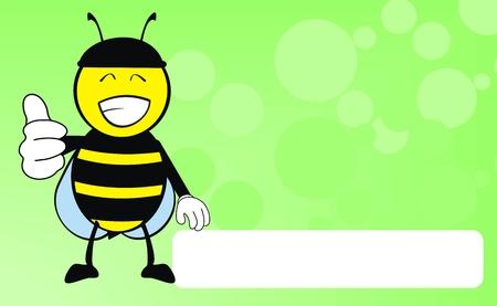 bee cartoon background