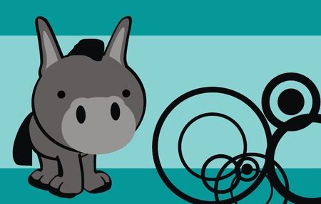 donkey  cute cartoon baby vector background in vector format very easy to edit