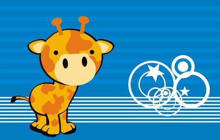 giraffe  cute cartoon baby vector background in vector format very easy to edit Vector