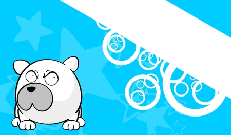 illustraition: polar bear cartoon background  Illustration
