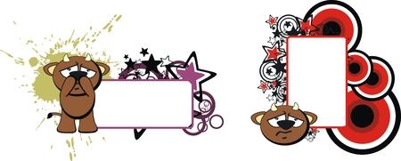cartoom: bull baby cute cartoon copyspace