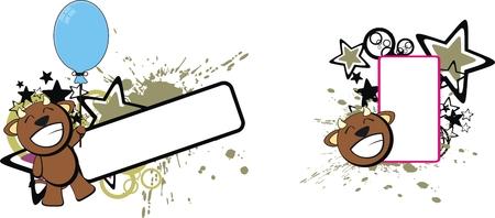 cartoom: bull baby cute cartoon copyspace in vector format