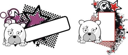 polar bear ball cartoon copyspace in vector format