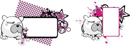 cartoom: polar bear ball cartoon copyspace in vector format