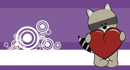 love wallpaper: mapache beb� de dibujos animados fondos de escritorio de amor en formato vectorial Vectores