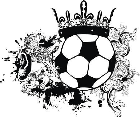 futbol soccer: lion heraldic coat of arms lion tattoo soccer in vector format