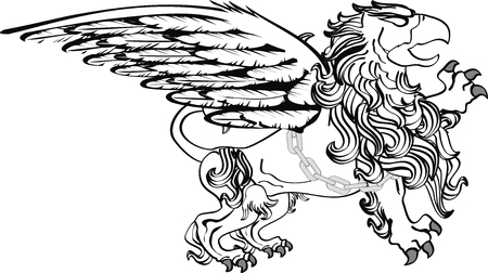 gryphon: gryphon tattoo isolated in vector format very easy to edit