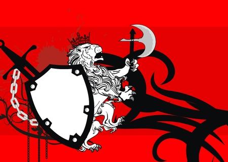 white coat: lion heraldic coat of arms lion tattoo background