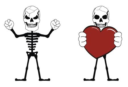 skull funny cartoon pictogram style   Vector