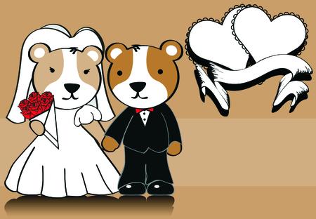 hamster married cartoon background in vector format