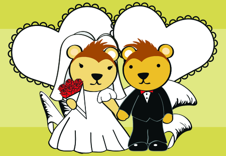 porcupine: porcupine married cartoon background in vector format