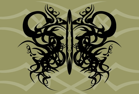 tatto: butterfly tatto background in vector format