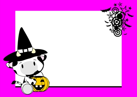 cow halloween witch background
