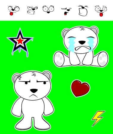 baby bear: cute polar bear baby cartoon set in vector format very easy to edit