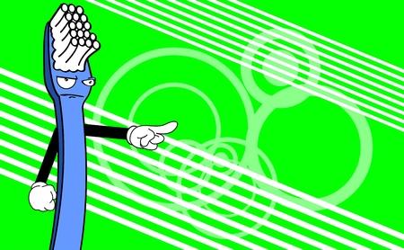 Spazzolino carta divertente cartone animato in formato vettoriale molto facile da modificare Archivio Fotografico - 34887871