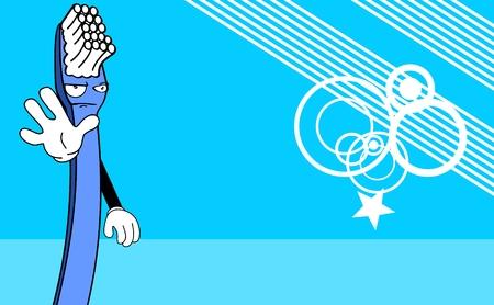 Spazzolino carta divertente cartone animato in formato vettoriale molto facile da modificare Archivio Fotografico - 34887874