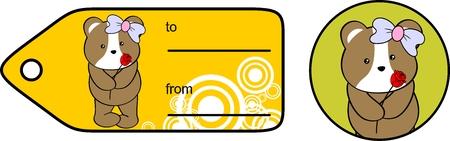 infantile: sweet baby hamster girl rose love giftcard set in vector format very easy to edit