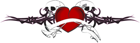 heart very: heart arrows tattoo in vector format very easy to edit