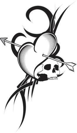 hartpijlen tattoo in vector-formaat zeer gemakkelijk te bewerken