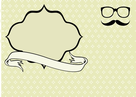 hipster moustache style background  in vector format very easy to edit