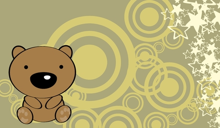 baby bear: cute baby teddy bear background in vector format very easy to edit
