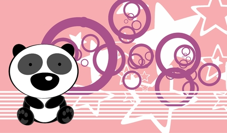 cute baby panda  teddy bear background in vector format very easy to edit
