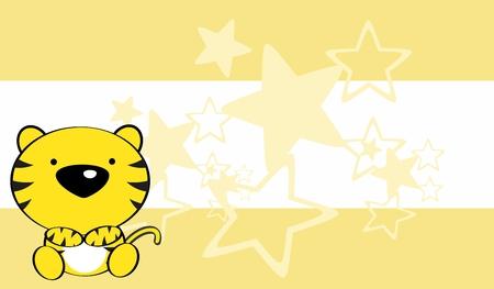 tigre bebe: fondo lindo beb� tigre en formato vectorial muy f�cil de editar