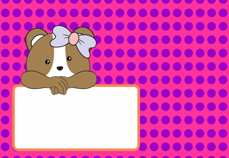 cute baby hamster girl background in vector format very easy to edit
