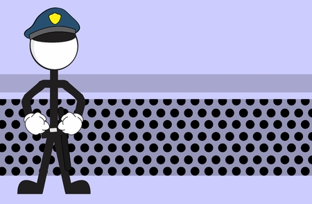 police man pictogram cartoon background in vector format very easy to edit
