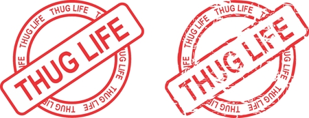 thug life stamp sticker in vector format very easy to edit Иллюстрация