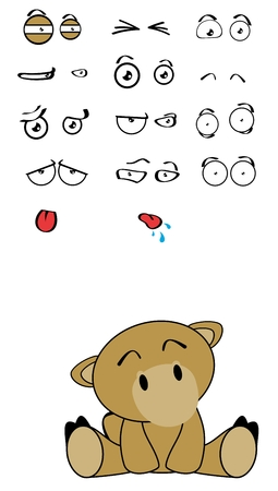 cute camel expressions cartoon set in vector format very easy to edit