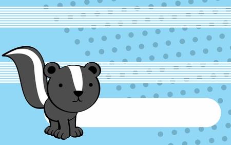 infantile: cute skunk cartoon background in vector format very easy to edit