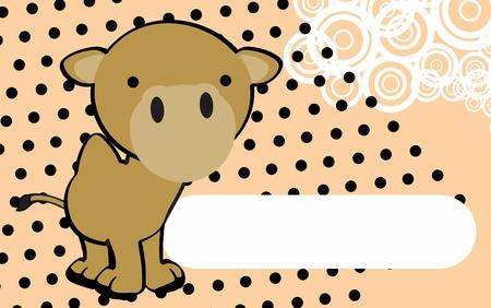 leuke kameel cartoon achtergrond in vector-formaat zeer gemakkelijk te bewerken Stock Illustratie
