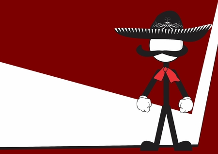 mexican mariachi cartoon background in vector format Zdjęcie Seryjne - 40404375
