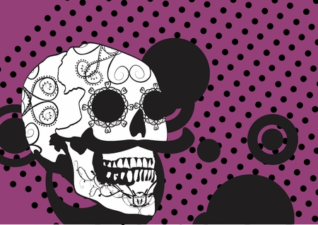 had: mexican skull cartoon background in vector format