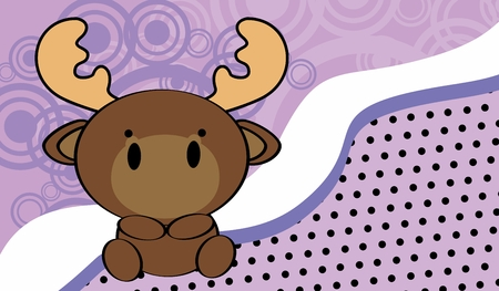 cute baby moose background in vector format very easy to edit
